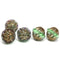 Czech glass antique green large fancy bicone beads for jewelry designs