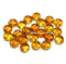Bright topaz czech glass rondelle beads jewelry making supply