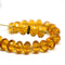 Topaz czech glass fire polished rondelle beads DIY jewelry