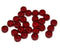 Dark red rondelle beads, fire polished czech glass - 6x3mm