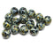 10mm Black picasso round druk Czech glass beads jewelry making