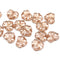 Crystal clear maple leaf beads, copper Czech glass leaves DIY jewelry