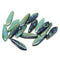 Blue green dagger, Picasso finish czech glass beads DIY jewelry