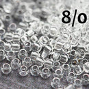 8/0 Toho seed beads, Transparent Crystal clear N 1 - 10g