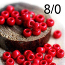8/0 Toho seed beads, Opaque Pepper Red, N 45 - 10g
