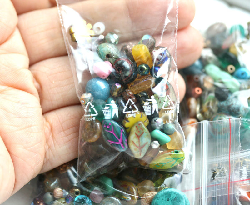 20g Picasso Beads MIX, Surprise Bag, Czech glass bead soup