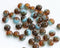 3x5mm Mixed Blue and Brown Topaz czech glass beads - 40Pc