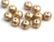 6x9mm Matte Gold czech glass rondelle beads, gemstone cut - 12pc