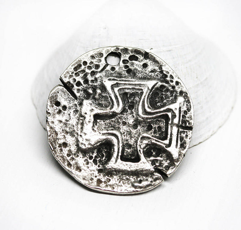 Antique Silver old Cross Pendant