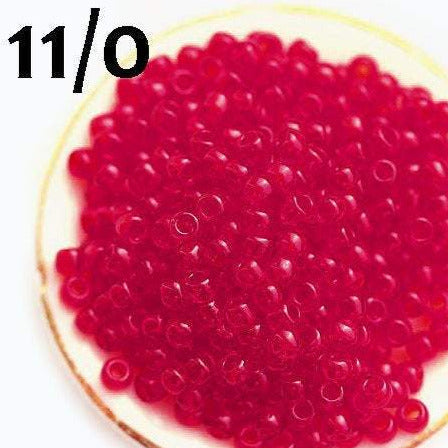 11/0 Toho seed beads, Transparent Ruby red N 5C - 10g