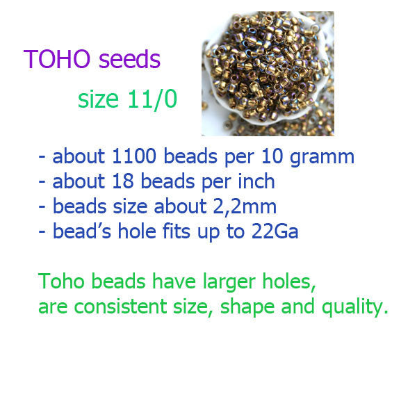 11/0 TOHO seed beads, Transparent Frosted Sugar Plum N 19F - 10g