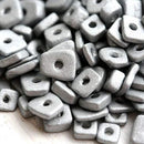 5mm ceramic Silver chip beads approx.70pc