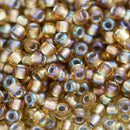 11/0 Toho seed beads, Gold Lined Rainbow Topaz N 278 - 10g