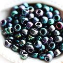 6/0 Toho seed beads, Higher-Metallic Dragonfly N 505, purple green - 10g