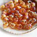 6/0 Toho seed beads, Transparent Rainbow Topaz N 162C - 10g