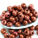 Drop beads size 5/0 Preciosa Seed beads, Caramel Brown Luster finish rocailles - 10g