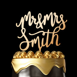 Personalized Cake Topper - Wedding Cake Topper by Luxtomi