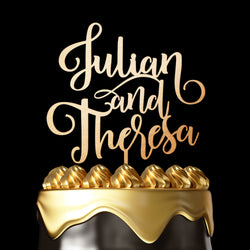 2 Names Cake Topper - Wedding Cake Topper by Luxtomi