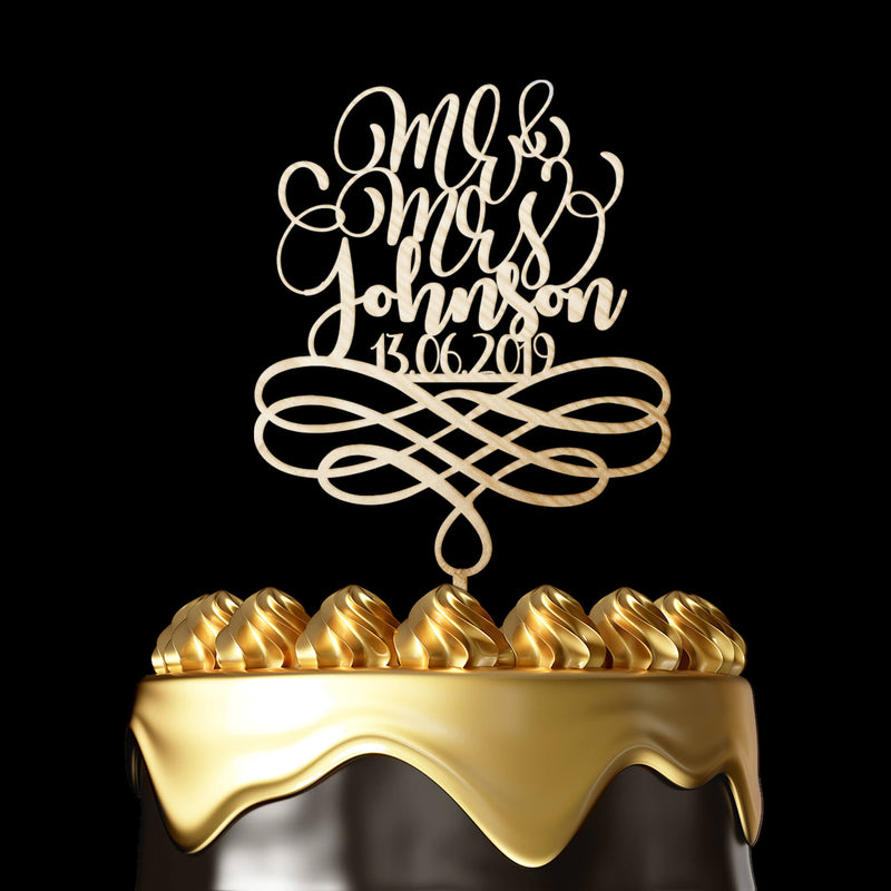 Personalized Cake Topper Henderson - Wedding Cake Topper by Luxtomi