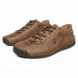 Men's Casual Soft Leather Lace up Shoes