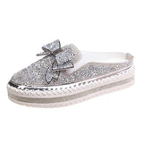 Women's Shining Bowknot Fashion Loafers