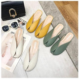 Women's Soft Leather Summer Slippers
