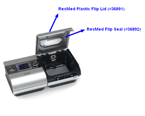 ResMed S9 H5i Flip Lid and Seal