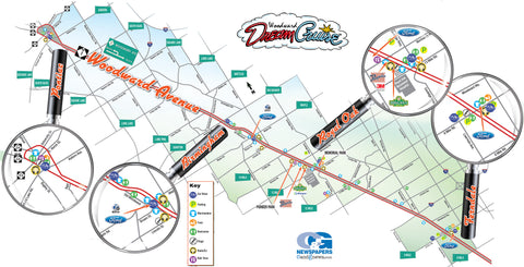 Woodward Dream Cruise Map Woodward Dream Cruise: Cheat Sheet   The Great Lakes State