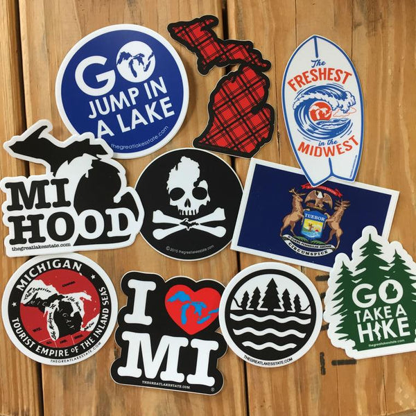 Michigan Sticker Collection