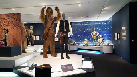 Han Solo and Chewbacca Costumes at the DIA Star Wars and the Power of Costume