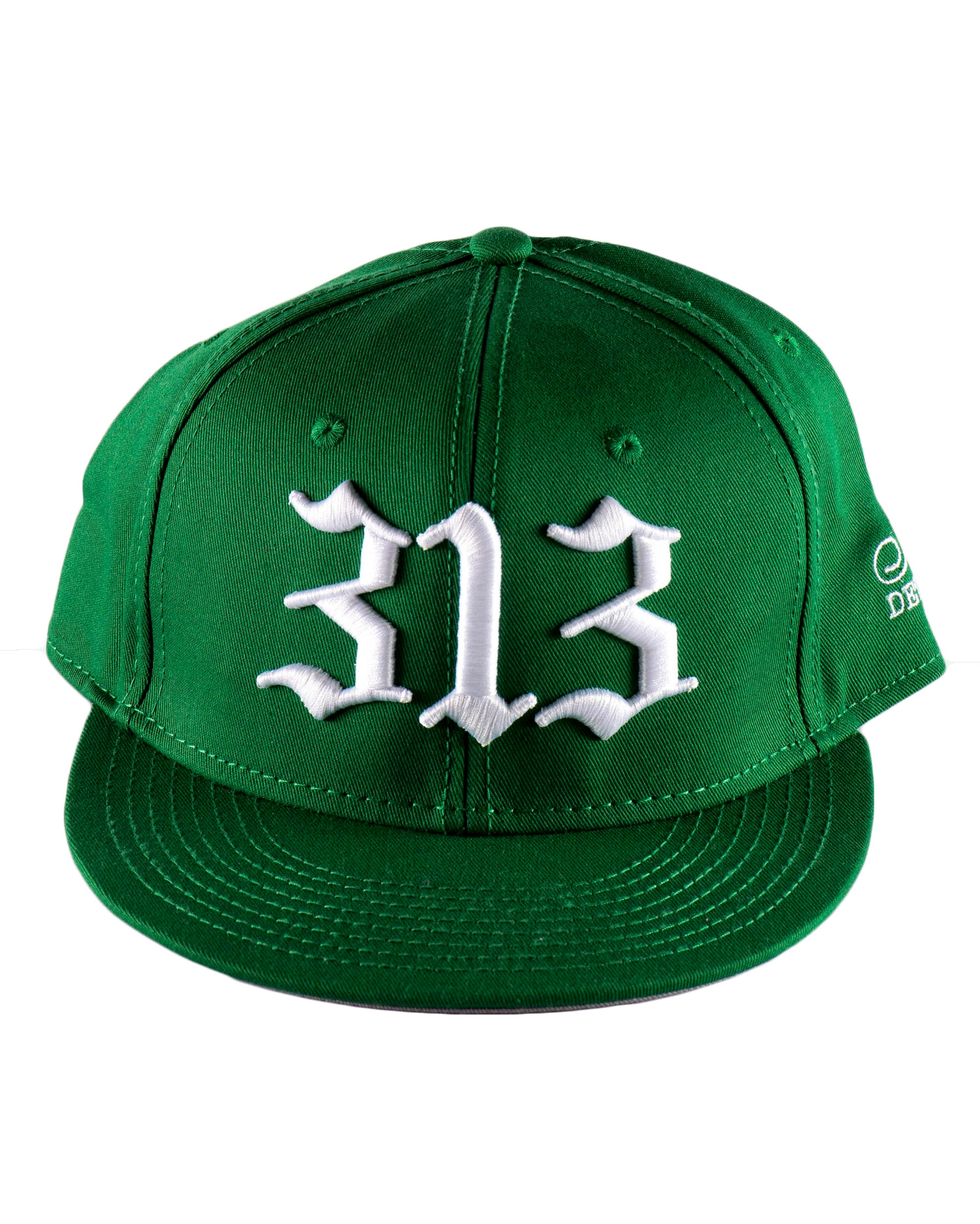 313 - Flat Bill Puff Print Snap Back Hat - Green - The Great Lakes State 9de181cef8d7