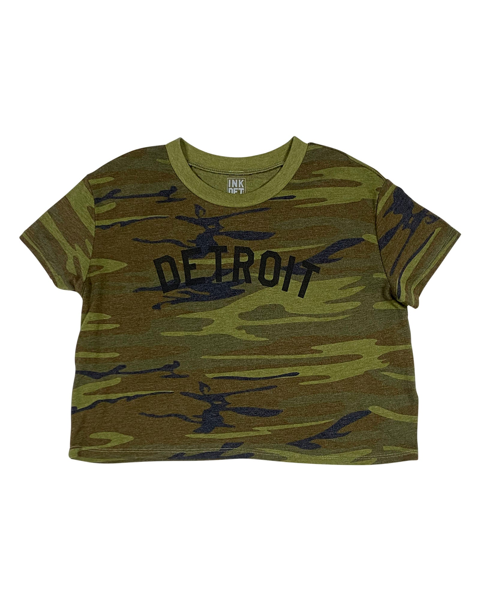 Basic Detroit Camouflage Cropped T-Shirt