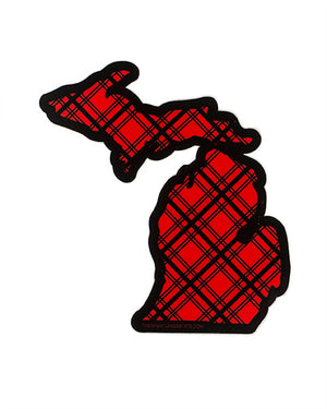 Michigan Flannel Sticker - The Great Lakes State