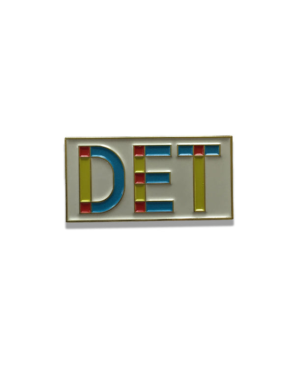 DET Primary Colors Enamel Pin