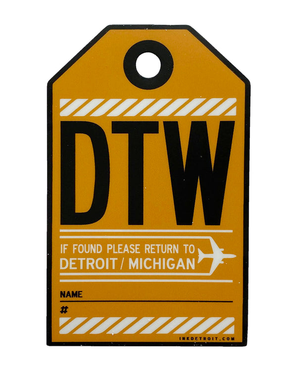 DTW Luggage tag Sticker