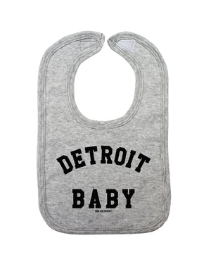 Detroit Baby Bib - Heather Grey