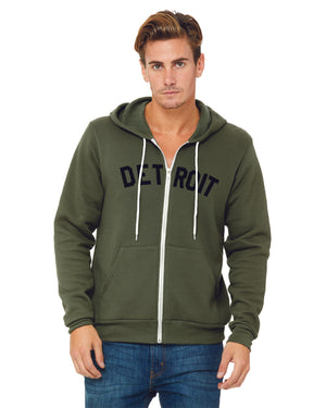 Basic Detroit Full Zip Hooded Sweatshirt
