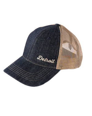 Detroit Denim & Mesh-Back Cap