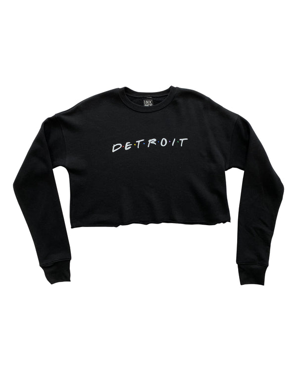 Detroit FRIENDS Women's Cropped Fleece Crewneck Sweatshirt