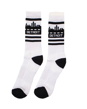 Detroit Skyline Crew Socks - The Great Lakes State