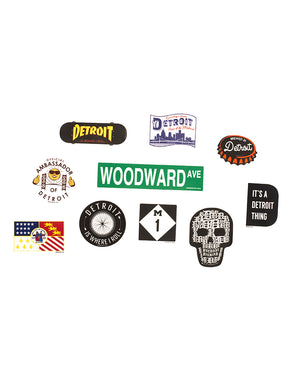 Detroit Sticker Bundle of 10