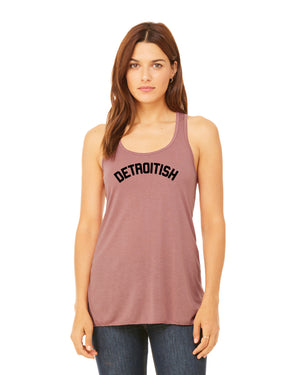 Detroitish Women's Racerback Tank Top - Mauve