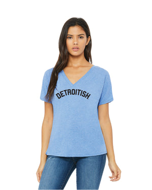 NEW Detroitish Women's slouchy v-neck t-shirt (PRE-ORDER)