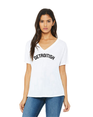 NEW Detroitish Women's slouchy v-neck t-shirt