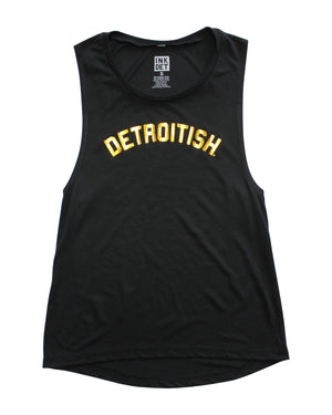 Detroitish Women's Gold Foil Muscle Tank Top