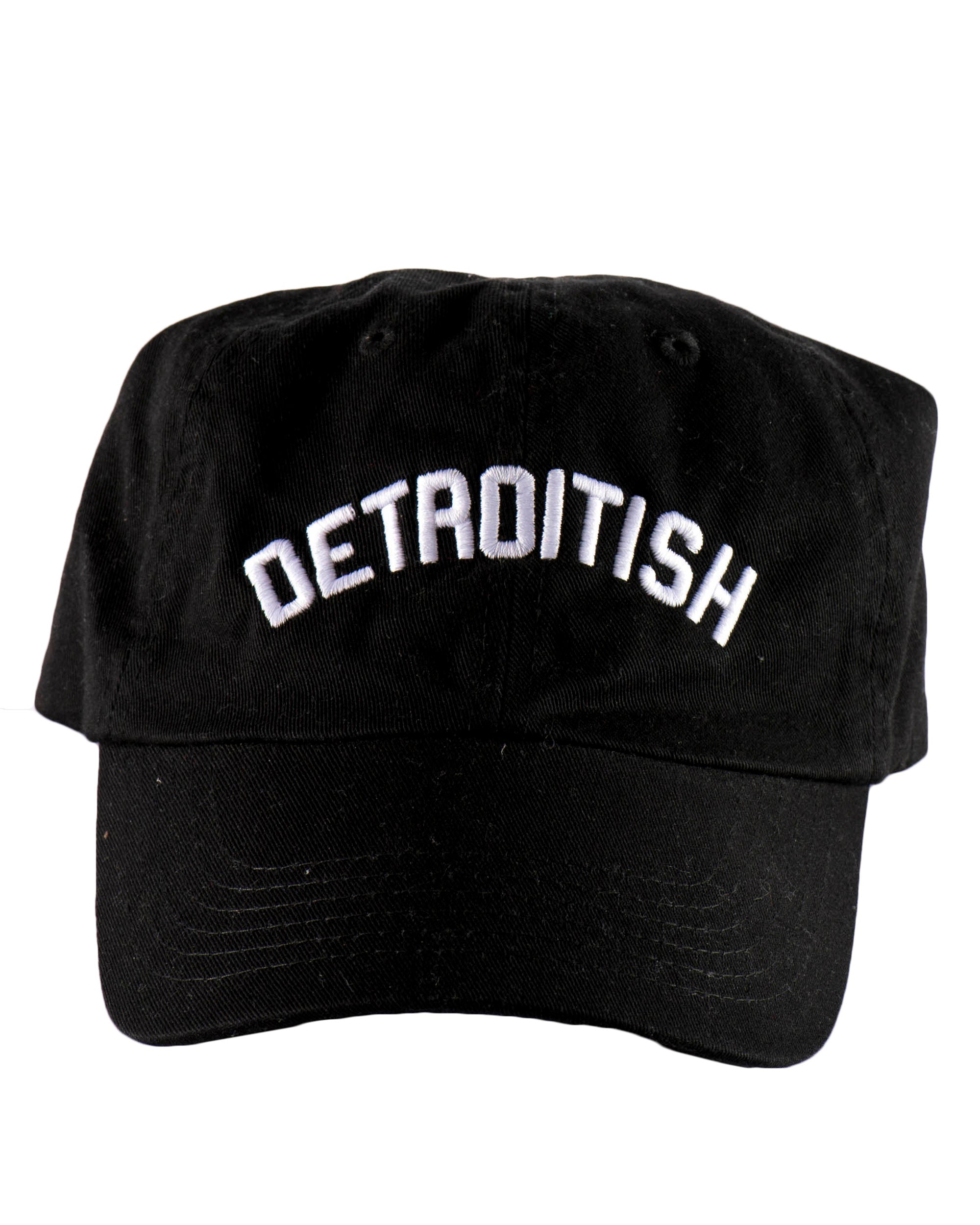 Detroitish Dad Cap - Black - The Great Lakes State