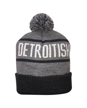 Detroitish Knitted Pom Beanie - The Great Lakes State