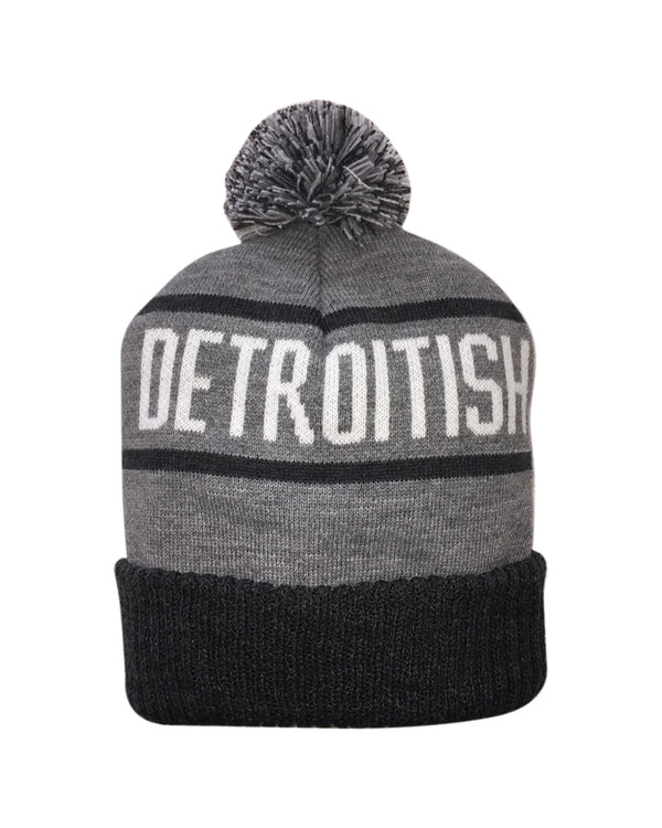Detroitish Knitted Pom Beanie
