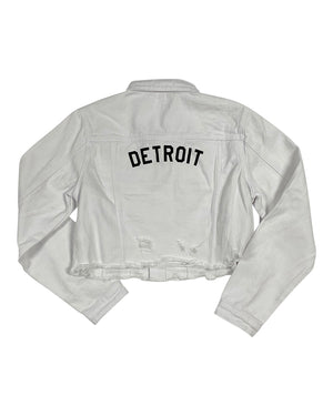 Ladies Basic Detroit Jean Jacket - White
