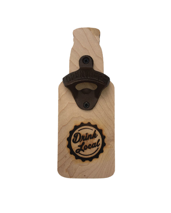 Drink Local Bottle Shaped Bottle Opener